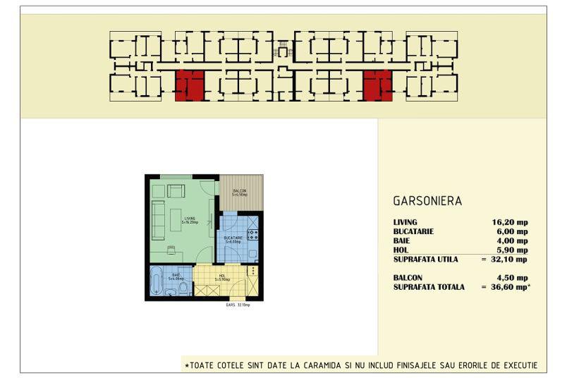 Garsoniere, 32 mp, Viva Residence 5