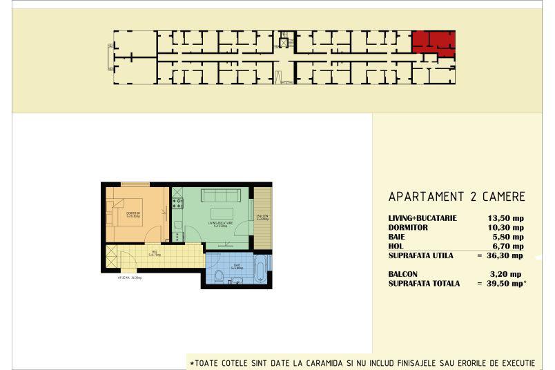 Apartamente 2 camere, 36 mp, Viva Residence 5