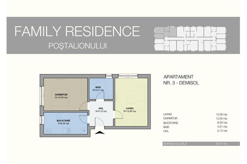 Apartamente 2 camere, 43 mp, Family Residence Metalurgiei