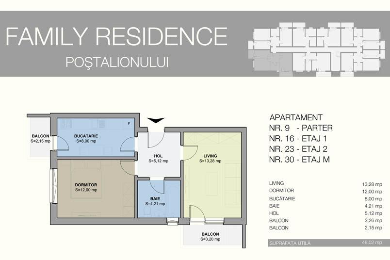 Apartamente 2 camere, 48 mp, Family Residence Metalurgiei