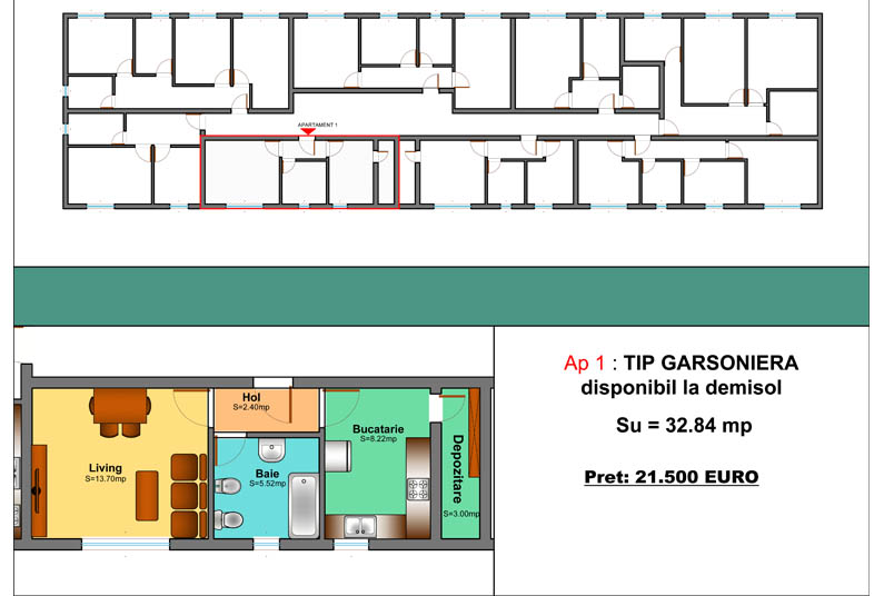 Garsoniere, 33 mp, Family Residence Metalurgiei