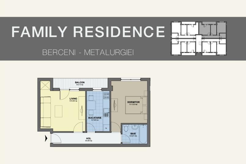 Apartamente 2 camere, 50 mp, Family Residence Metalurgiei