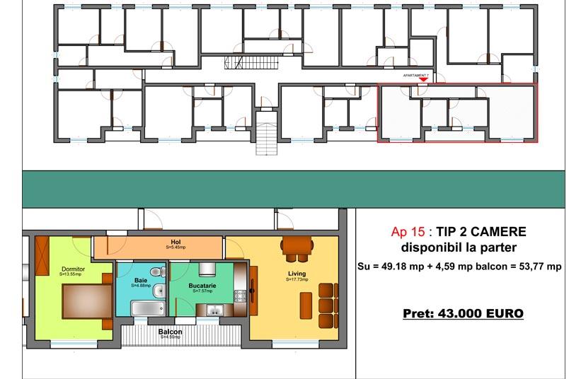 Apartamente 2 camere, 54 mp, Family Residence Metalurgiei