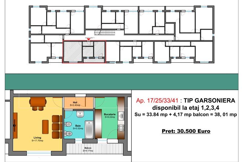 Garsoniere, 38 mp, Family Residence Metalurgiei
