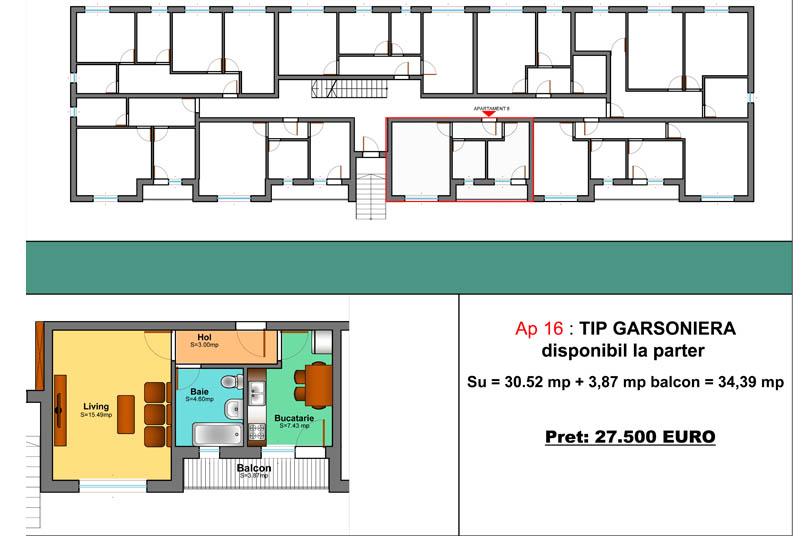 Garsoniere, 34 mp, Family Residence Metalurgiei