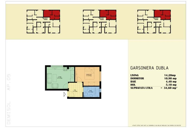 Garsoniere, 35 mp, Happy Home Residence Berceni 3
