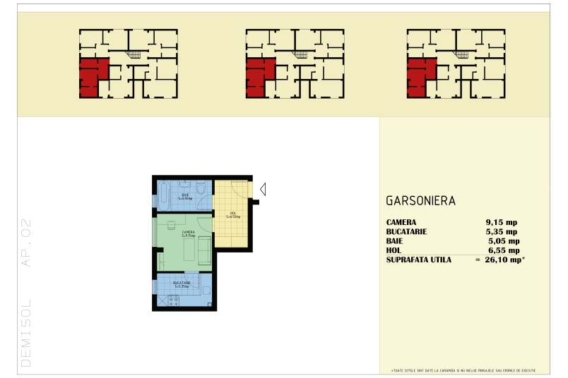 Garsoniere, 26 mp, Happy Home Residence Berceni 3