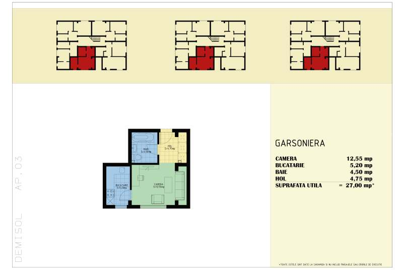 Garsoniere, 27 mp, Happy Home Residence Berceni 3
