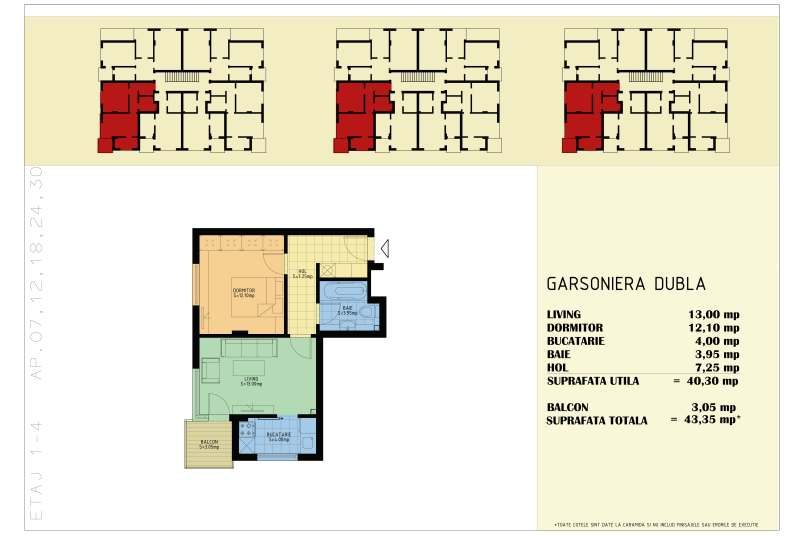 Garsoniere, 43 mp, Happy Home Residence Berceni 3