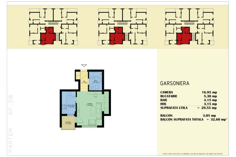 Garsoniere, 33 mp, Happy Home Residence Berceni 3