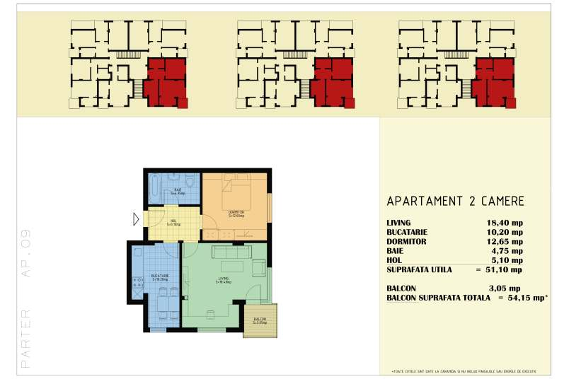 Apartamente 2 camere, 54 mp, Happy Home Residence Berceni 3
