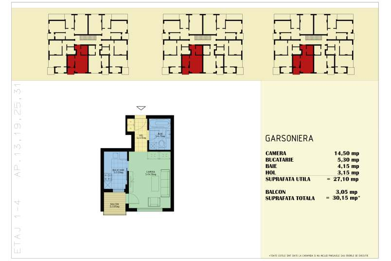 Garsoniere, 30 mp, Happy Home Residence Berceni 3