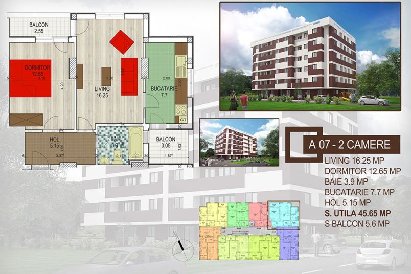 Apartamente 2 camere, 51 mp, Brown Residence Amurgului